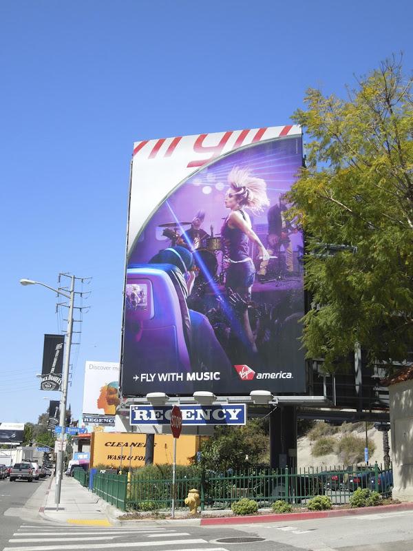 Fly music Virgin America billboard