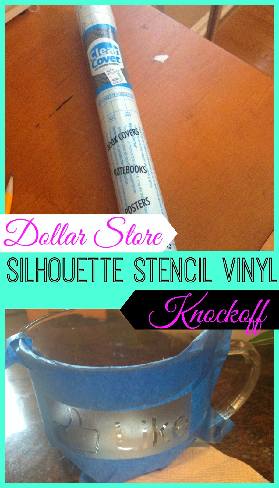 Dollar Store Stencil Vinyl Material For Silhouette