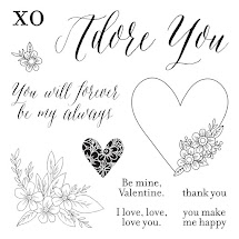 JANUARY STAMP OF THE MONTH - ADORE YOU