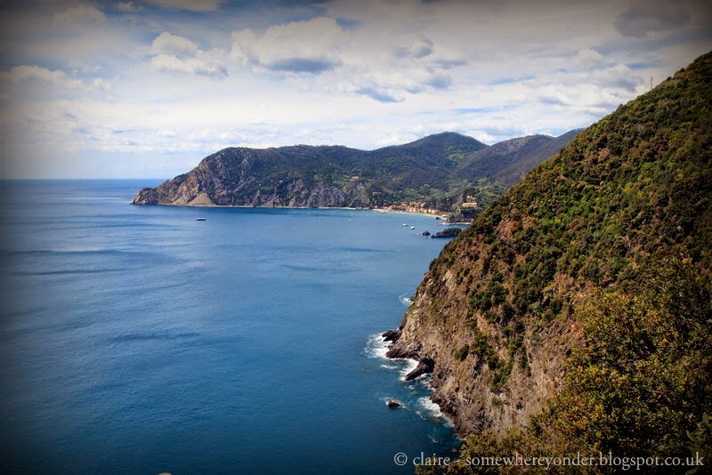 Looking back to Monterosso al Mare from Vernazza - Italy