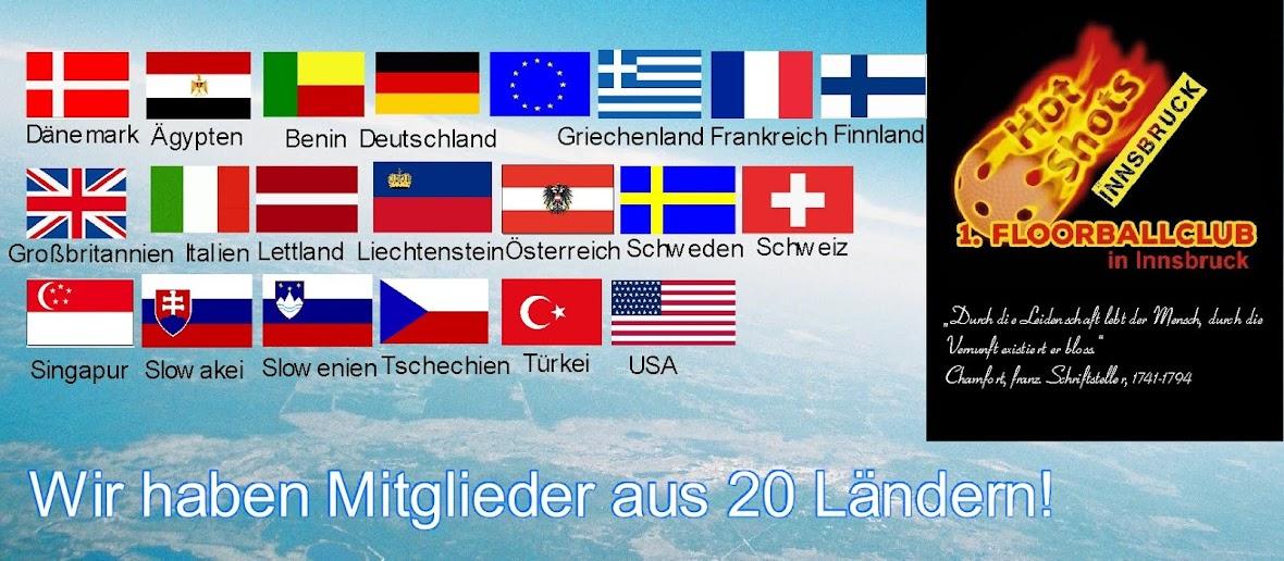 SpielerInnen aus 18 Ländern