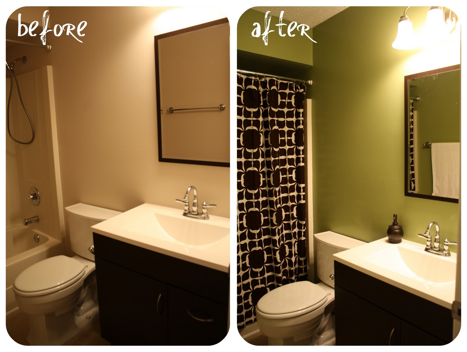 Live a little wilder bathroom 2 makeover for Forest bathroom ideas