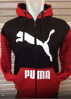 gambar detail jaket hodie photo kamera Jaket hoodie Puma warna hitam merah terbaru musim 2015/2016 kualitas grade ori