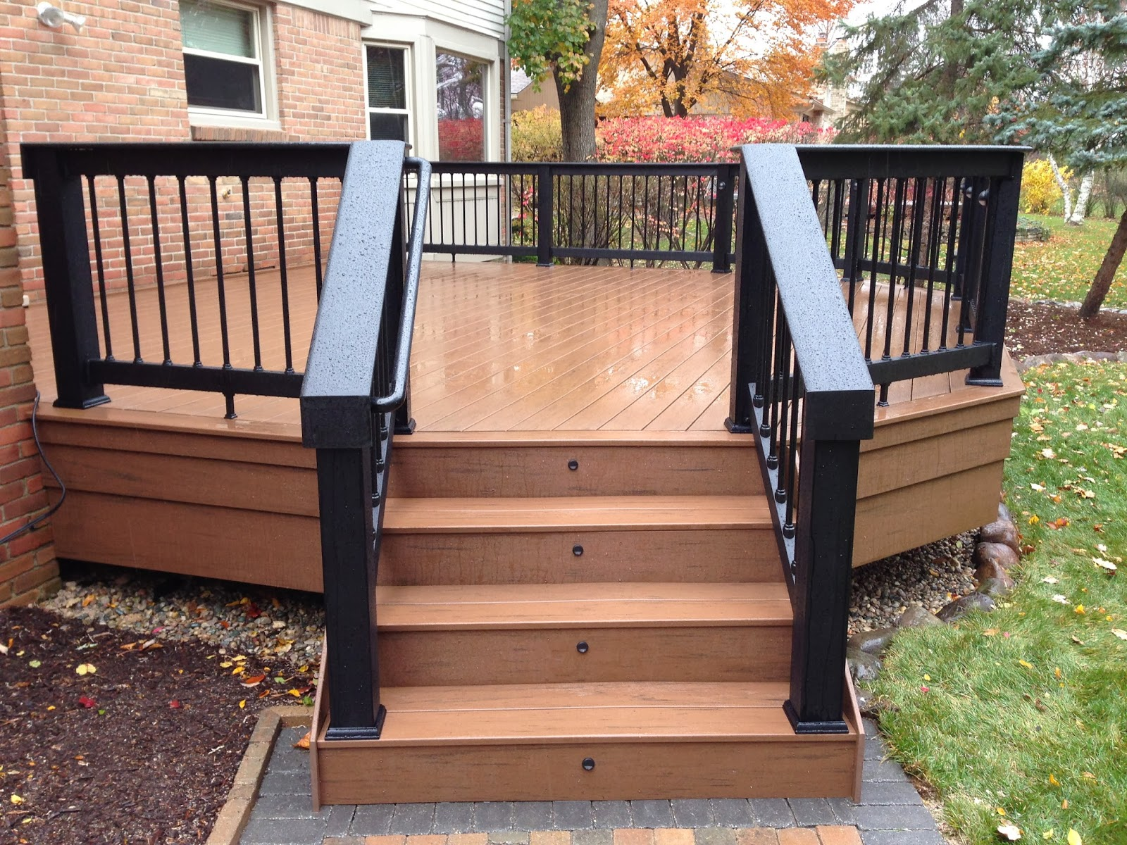 Front porch railing ideas - Outdoor Living Deck Designs From 2013 Adding Flair To A Square Deck
