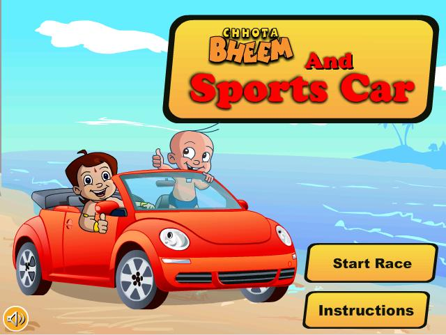 chhota bheem sports car race games