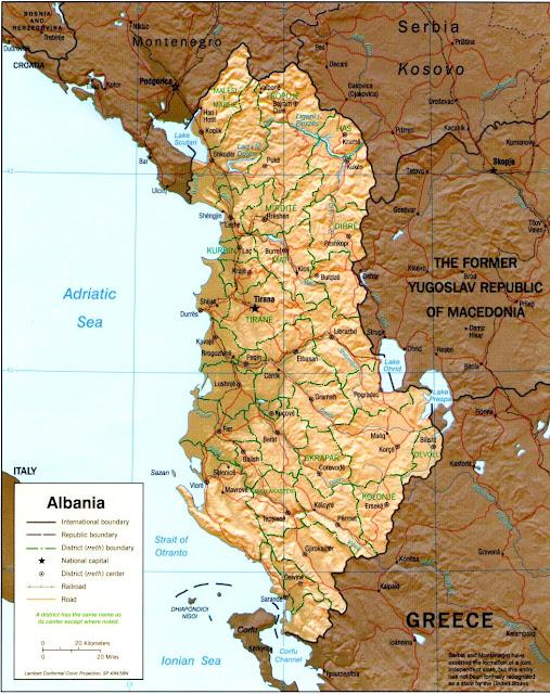 Albania de región
