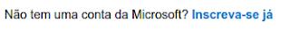 Inscrição do e-mail Outlook