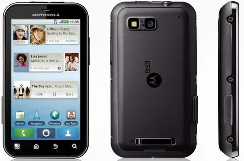 Motorola Defy plus side views