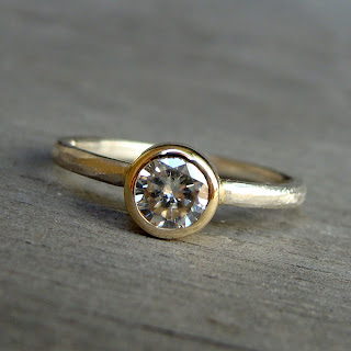 delicate moissanite ring