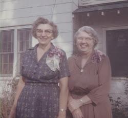 Grandma Persons & Grandma Lind - 1964