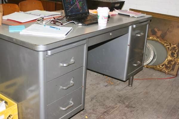 Great Vintage Metal Office Desk Methuen Http Boston Craigslist Org Nwb Fuo Html