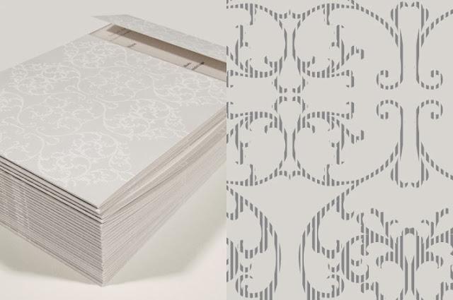 Papel estampado en gris para invitaciones
