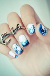 como pintar as unhas Desenhos de Decoração de Unhas