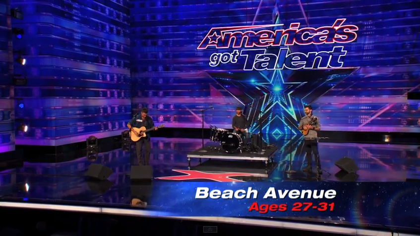 The Beach Avenue Sings an original music Coming Your Way on America's Got Talent Season 9