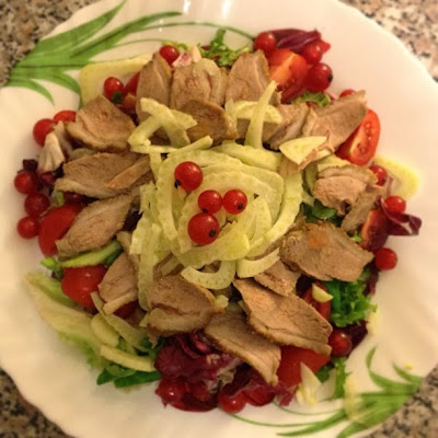 салат к утке, салат с уткой, праздничный салат