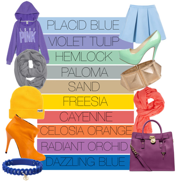 Trendy Colors freshmen fashion: pantone names color of the year and other trendy
