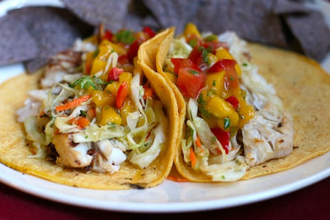 Vicky 39 s online cookbook fish tacos with mango salsa for Taco bell fish tacos