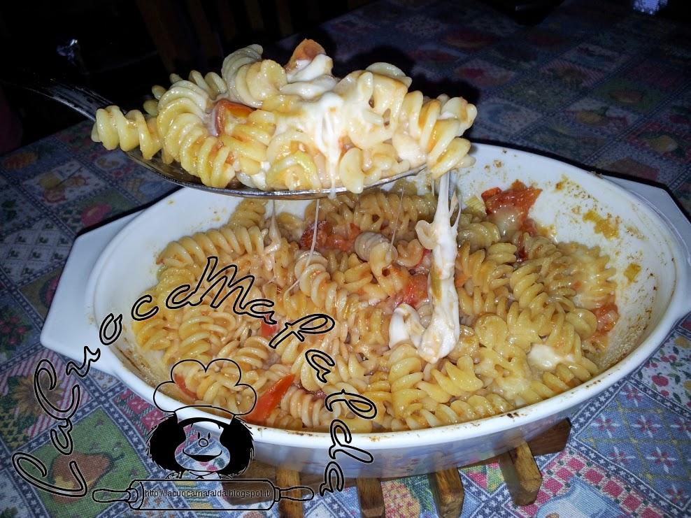 Pasta al forno pomodoro e formaggi