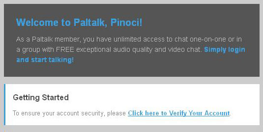 Email from Paltalk