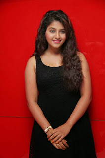 Actress Anjali Latest  Pictures in Short Dress at Kayal Movie Audio Launch  27.jpg