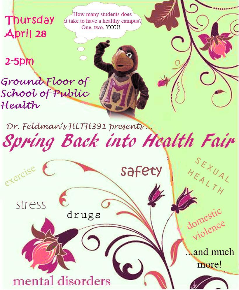 Health Fair Flyer Template. red illustration health fair flyer ...