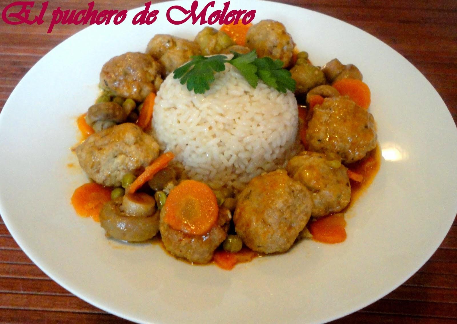 El puchero de molero albondigas con verduras - Albondigas de verdura ...