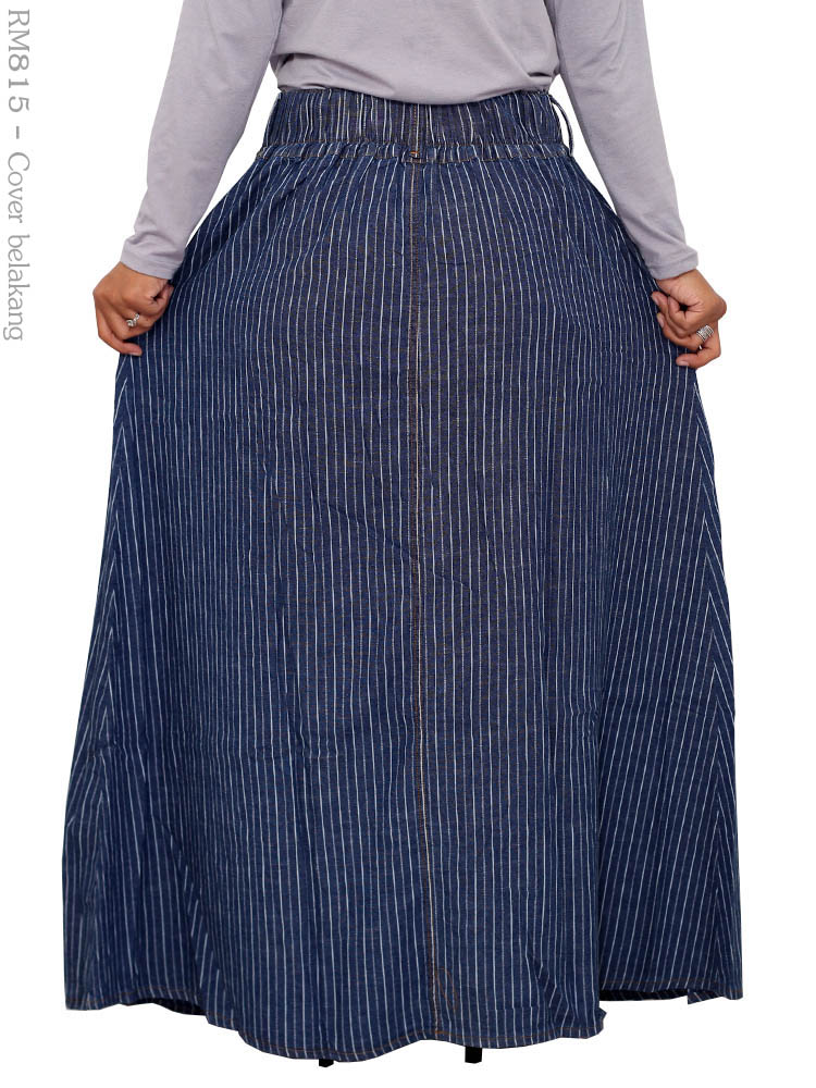 Rok Jeans Muslimah Rm815 Busana Muslim Murah Terbaru