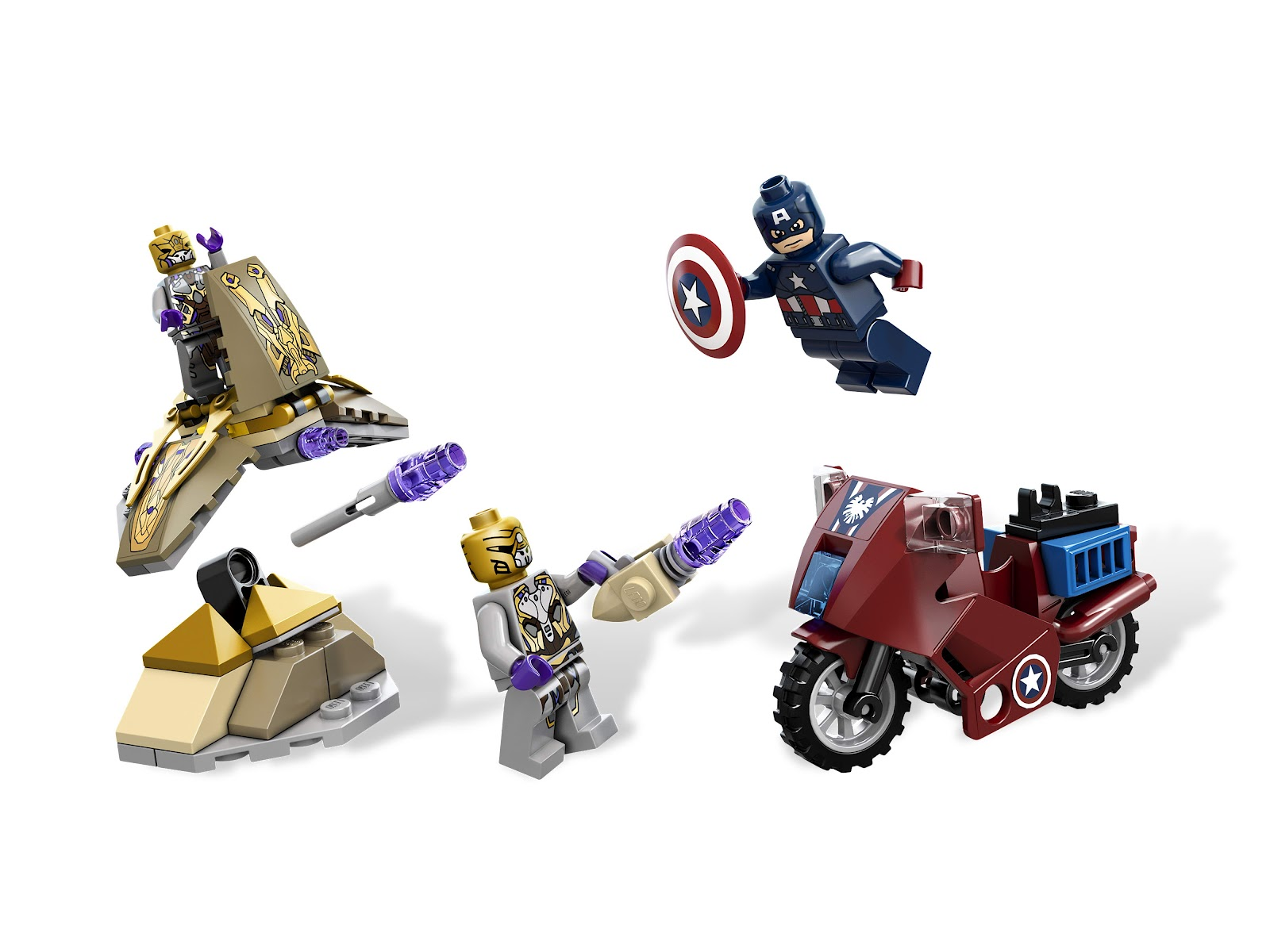 LEGO Marvel Captain America Shield from 6865 Captain America/'s Avenging Cycle