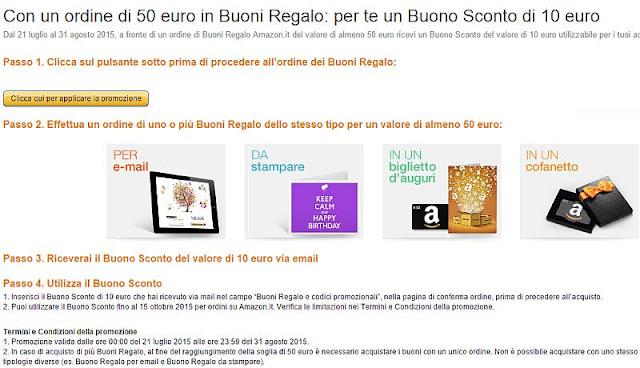 Sconto 10 euro - Amazon
