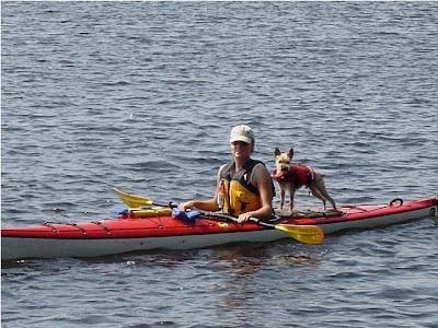 Harley & I kayaking