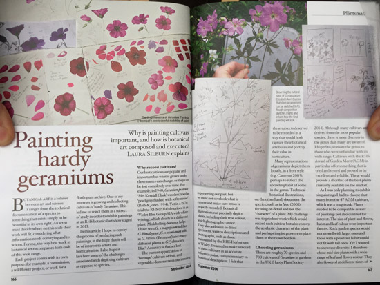 extract from 'Painting Hardy Geraniums' by Laura Silburn GM