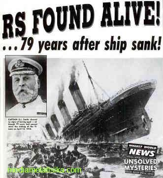 kemunculan penumpang kapal titanic menggemparkan dunia