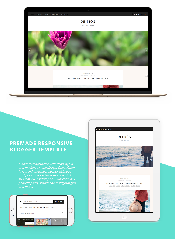 blogger template, blog theme, responsive blog theme