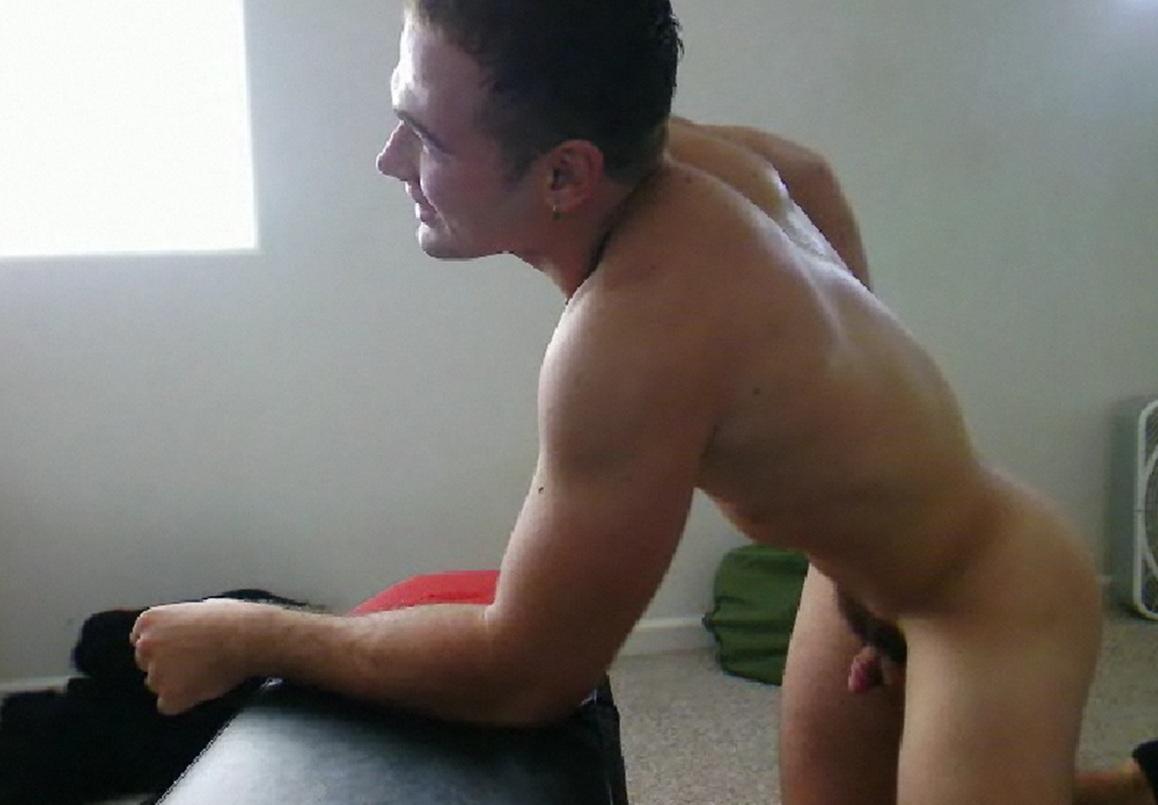 naked boys watching tv