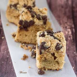 Peanut Butter Chocolate Chip Coffee Cake from Something Sweet--Winnie's Blog