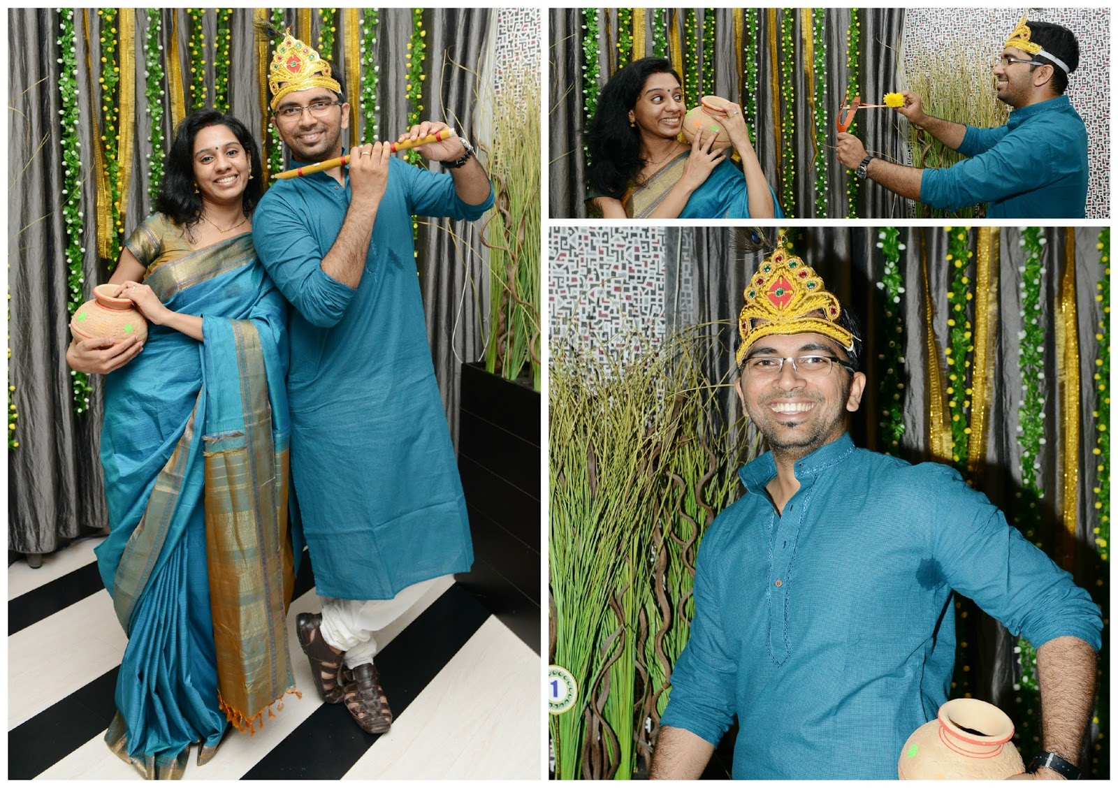 Krishna Theme Backdrop | Krishna Birthday decoration | Pinterest ...