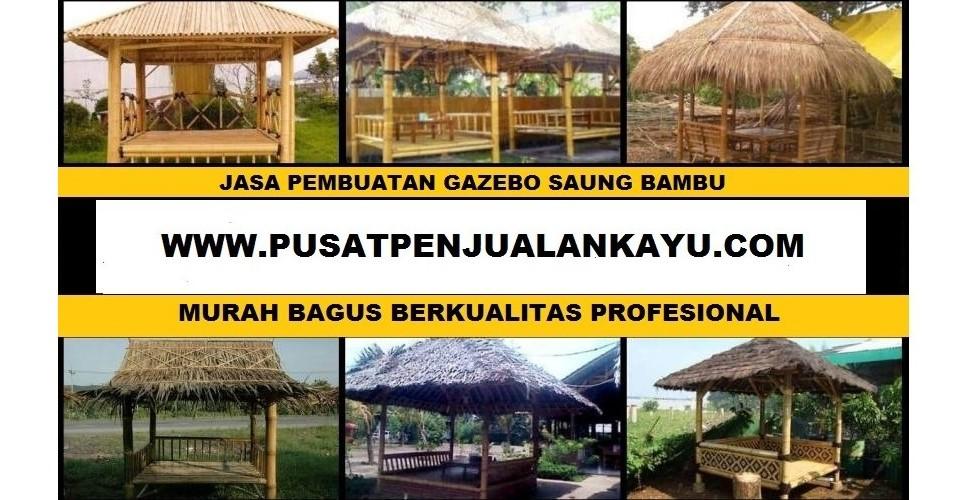 081212812650 jasa pembuatan gazebo saung bambu kayu perofesional murah bagus berkualitas