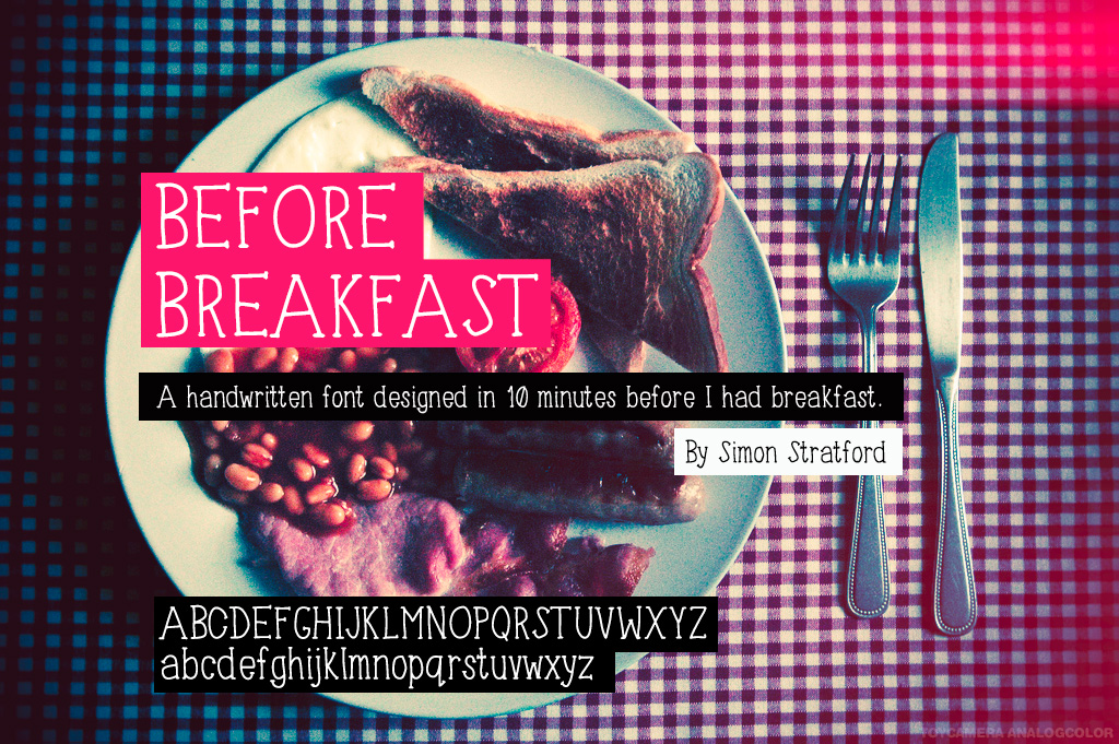 Download Font Handletter Tulisan Tangan Terbaik - Before Breakfast