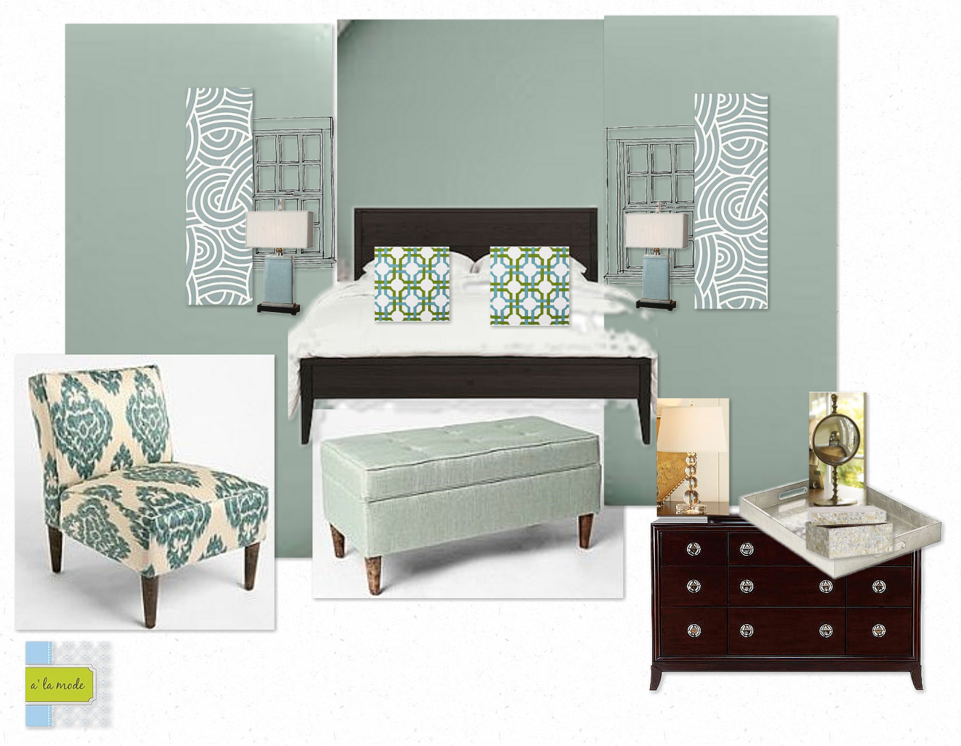 Alamode Client E Decor Board Master Bedroom Spruce Up Silver Sage