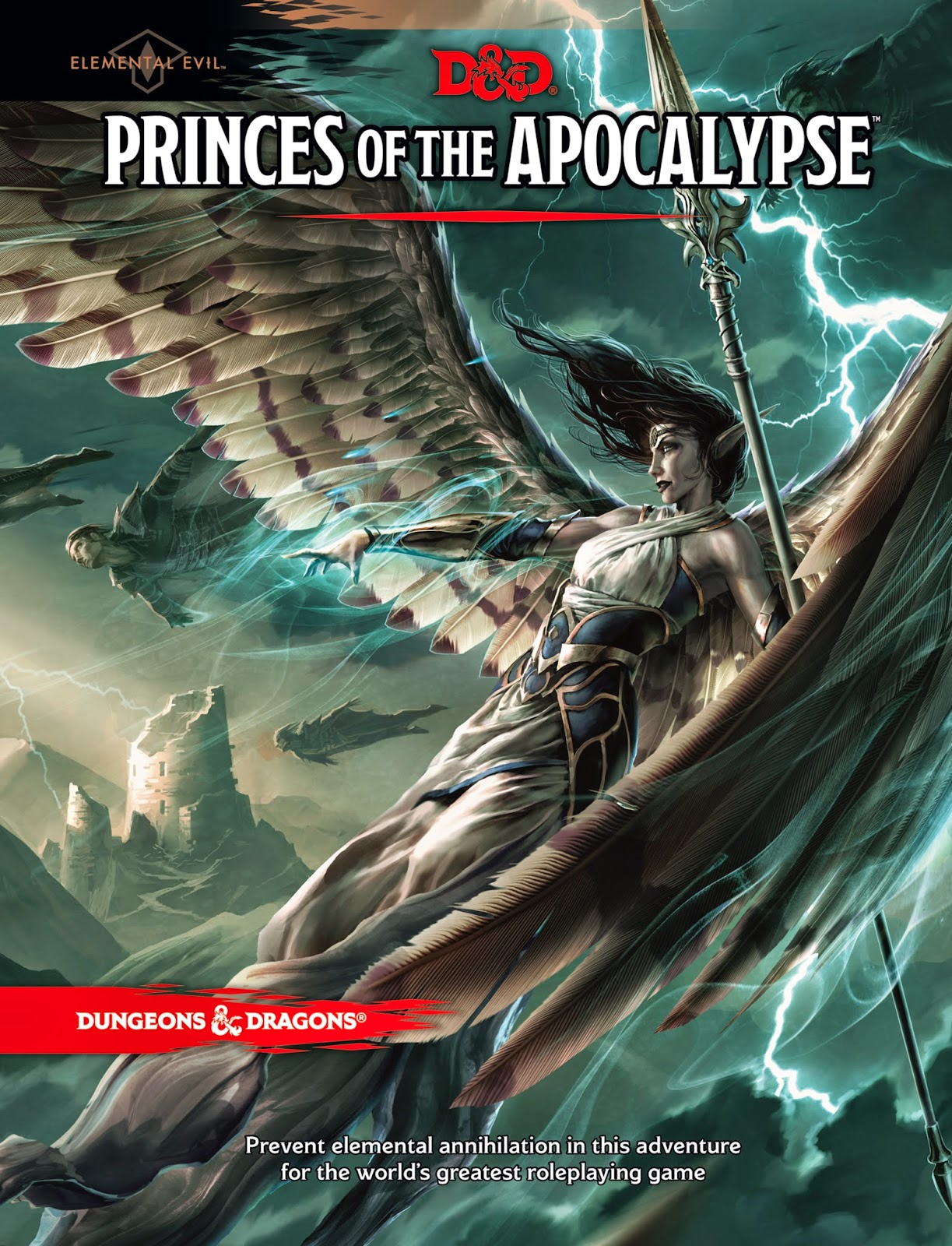 Front cover of the new Dungeons & Dragons adventure, Princes of the Apocalypse.