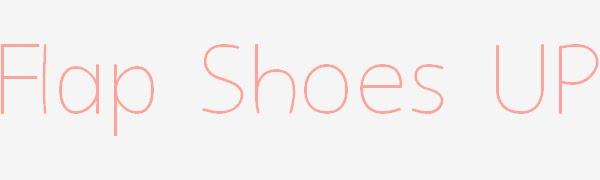 Flap shoes up