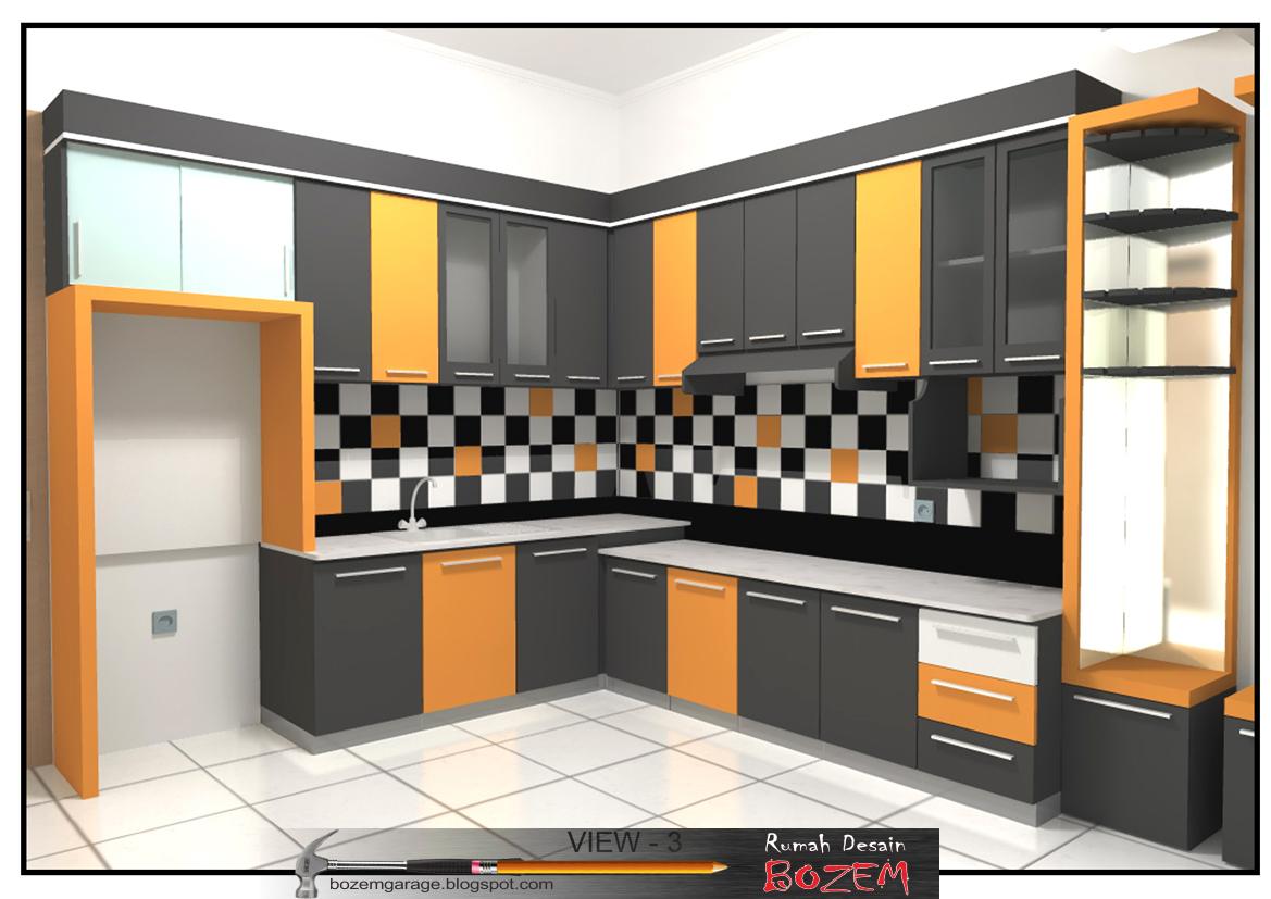 Rumah desain bozem kitchen set kota mas bandung for Kitchen set b q