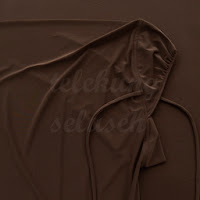 Telekung lycra coklat gelap bahagian muka