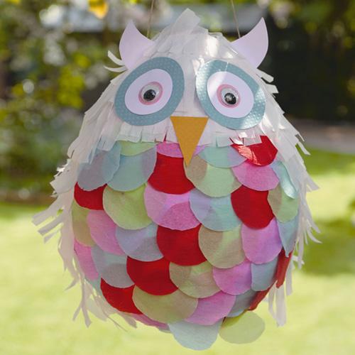My owl barn diy owl pinata for Diy paper mache owl