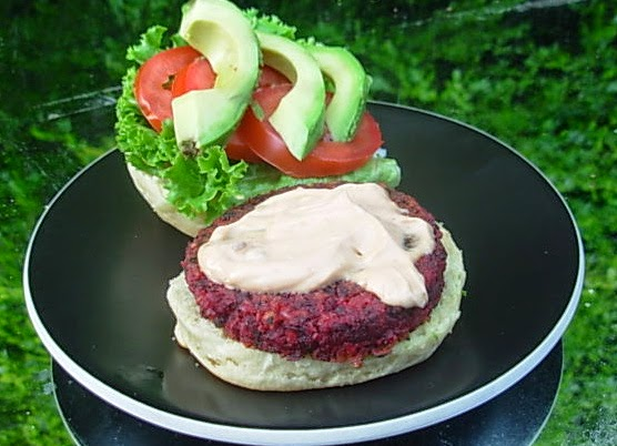... Kitchen to Yours: Beet Burger Sliders with Chipotle Mayo and Avocado