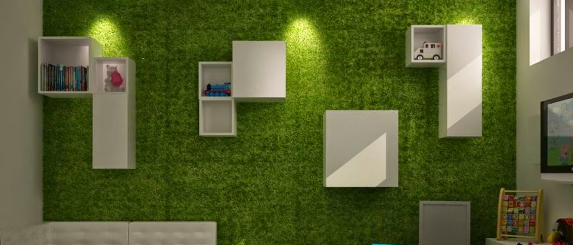 8 ideas para utilizar el c sped artificial de una manera for Jardin artificial interior
