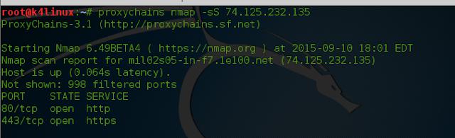 kali linux 2.0 nmap proxychains hack k4linux