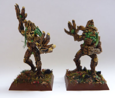 A painting update for Wood Elf Dryads from Warhammer Fantasy Battle.