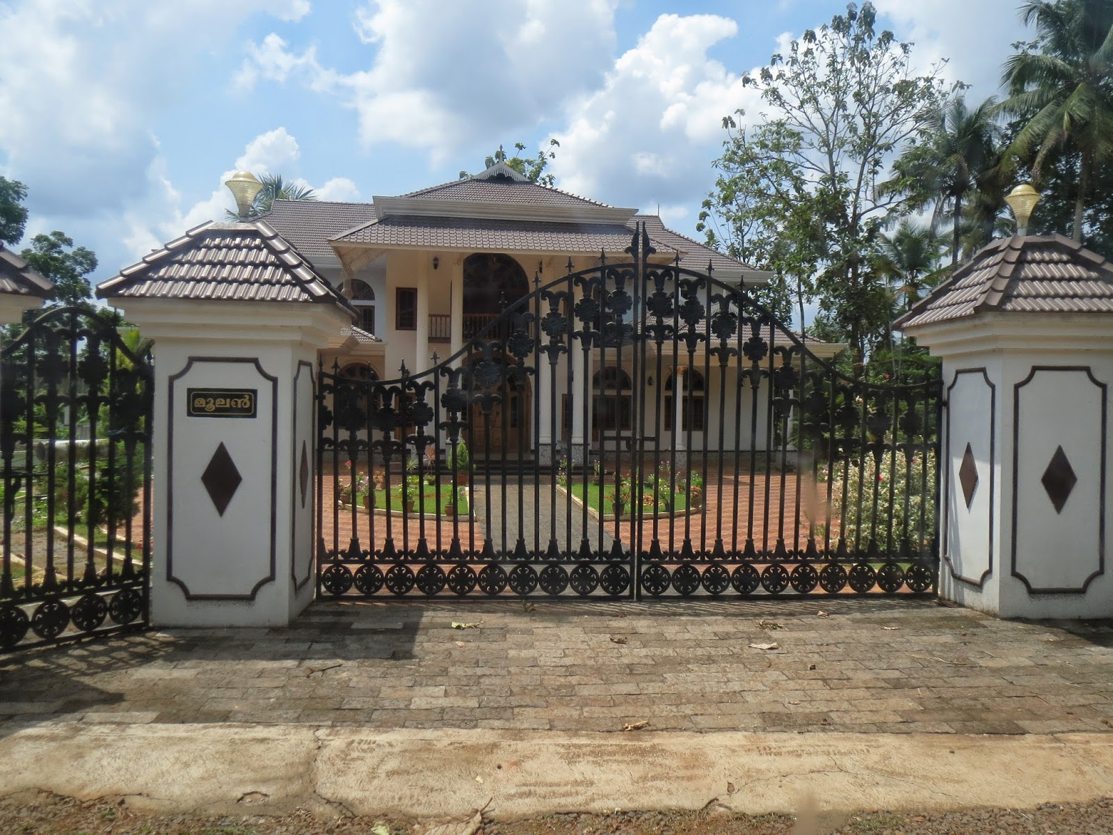 Kerala gate designs kerala house gates for Home gate design