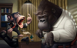 Monkey Bos Scream On Gorilla HD Wallpaper
